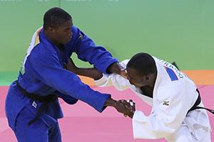 Judo masculino na categoria de +90Kg, sessão de qualificação. Jogos Olímpicos Rio 2016.
