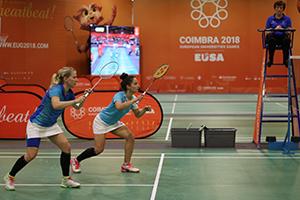 EUG Coimbra 2018_ badminton 19 jul