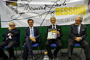Lançamento da biografia do antigo atleta de várias modalidades do Sporting, António Bessone Basto, no Sport Algés e Dafundo, Estádio Náutico Rodrigo Bessone Basto.