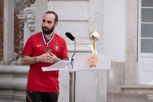Cerimónia de receção e condecoração da Seleção Nacional d